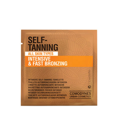 Comodynes self-tanning towelettes intensive