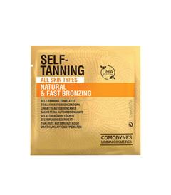 Comodynes self-tanning towelettes natural